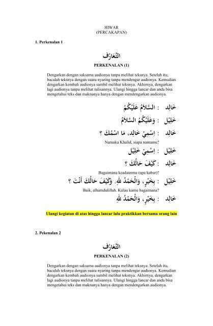 Kupdf Com Buku Bahasa Arab Hiwar Percakapan