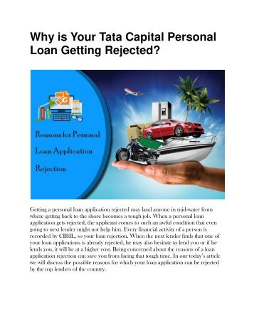 Why is Your Tata Capital Personal Loan Getting Rejected