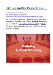 Hire Best Wedding Planner in Goa