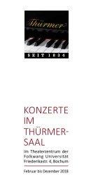 Programmheft Thürmer Konzerte 2018