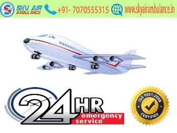 Sky Air Ambulance services in Bhubaneswar is available for 24/7 hours