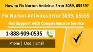 How to Fix Norton Error 3039, 65559 Call 1-888-909-0535