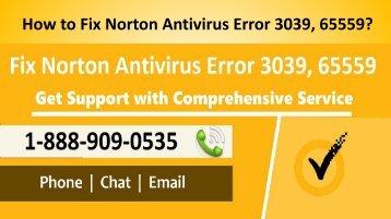 How to Fix Norton Error 3039, 65559 Call 1-888-909-0535