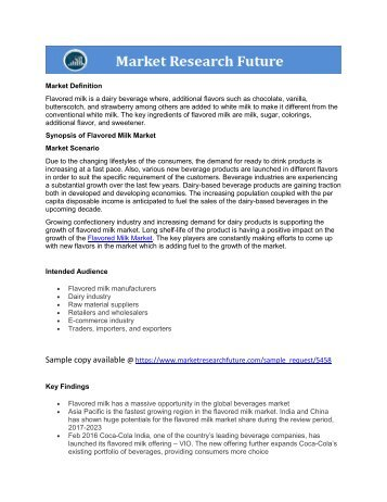 Flavored Milk Market report pdf download