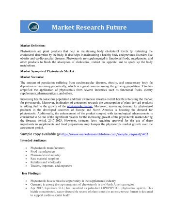 Phytosterols markt research pdf report download
