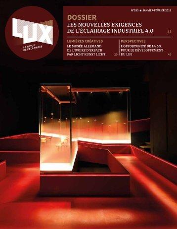 LUX 295 - LUX, la revue de l'éclairage (Février 2018)