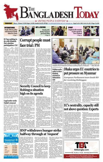The Bangladesh Today (15-02-2018)