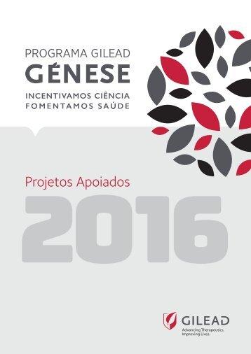 Programa Gilead Genese - Projetos 2016 v2
