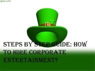 Steps by Step Guide  How to Hire Corporate Entertainment