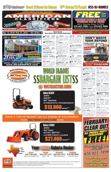 American Classifieds February 15th Edition