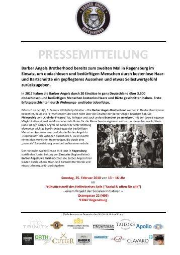Barber Angels nachhaltig wieder in Regensburg im Februar 2018