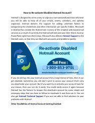 How to Re-activate Disabled Hotmail Account