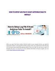 How to Setup Log File if Avast Antivirus Fails To Install