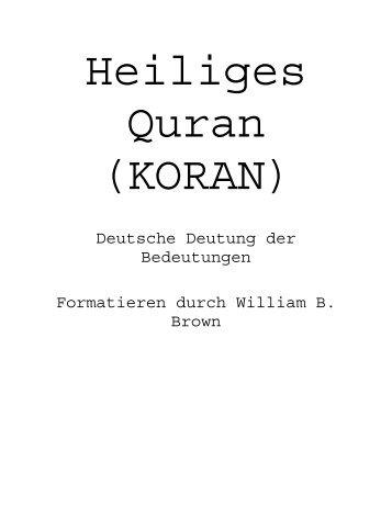Heiliges Quran