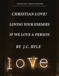 Christian Love by J.C. Ryle