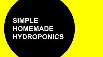 Simple Homemade Hydroponics