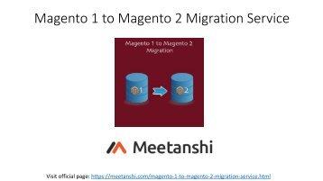 Magento 1 to Magento 2 Migration Service