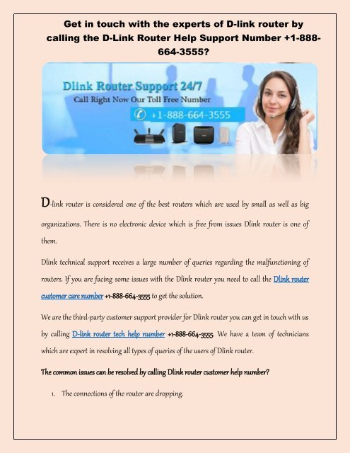 Unable to change the Dlink router password call the Dlink router support phone number? +1-888-664-3555