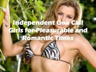 Independent Goa Call Girls for Pleasurable and Romantic Times