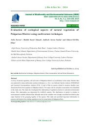Evaluation of ecological aspects of natural vegetation of Pakpattan District using multivariate techniques