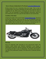 How to Choose a Dealership for Pre-Owned Long Island Motorcycles
