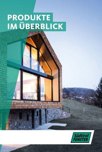 Südtirol Fenster Produkte im Überblick