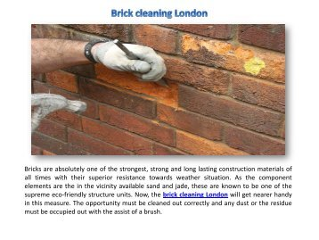 Brick cleaning London