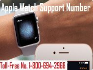 Apple Watch Support Number 1-800-694-2968 | Apple Watch Service