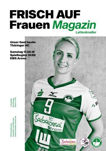 """Ausgabe 6 - Saison 2017/2018 - FRISCH AUF Frauen Magazin """"LATTENKNALLER"""""""