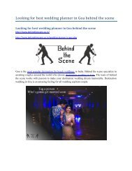 Looking for best wedding planner in Goa behind the scene