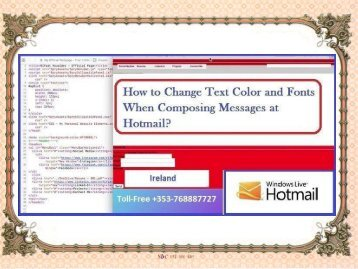 How to Change Text Color and Fonts When Composing Messages at Hotmail?
