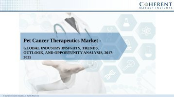 Pet Cancer Therapeutics Market to Surge Beyond US$ 332.6 Million by 2025