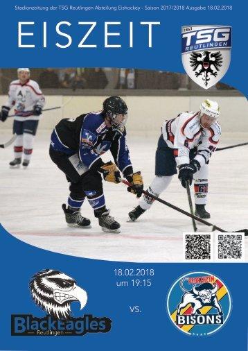 TSG Black Eagles vs. Bisons Pforzheim 18 02 2018