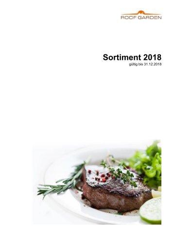 Sortiment 2018