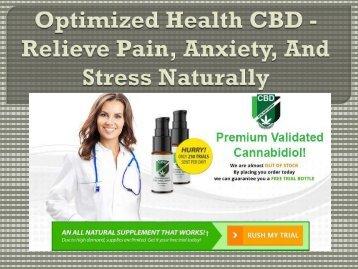 Optimized Health CBD - Feel Refresh & Energetic