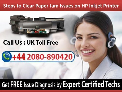 Steps to Clear Paper Jam Issues on HP Inkjet Printer