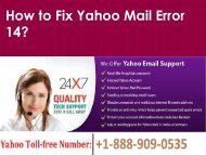 Fix Yahoo Mail Error 14 Call 1-888-909-0535 Yahoo Support