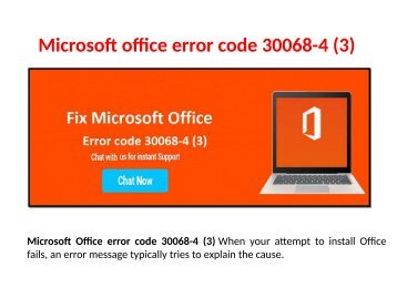 Fix Microsoft Office error code 30068-4 Call 1-888-909-0535