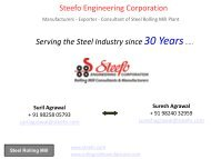 Steel Rolling Mill Manufacturers and Exporter in India