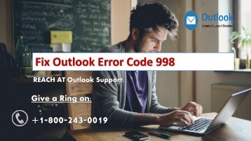1-800-243-0019 Fix Outlook Error Code 998