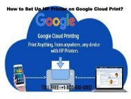 Set Up HP Printer on Google Cloud Print