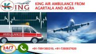 king air ambulance from agartala and agra