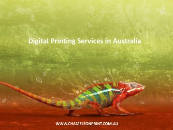 Digital Printing Services in Australia - Chameleon Print Group