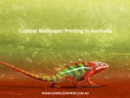 Custom Wallpaper Printing in Australia - Chameleon Print Group