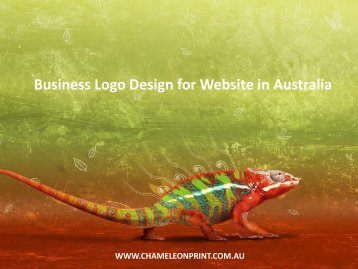 Business Logo Design for Website in Australia - Chameleon Print Group