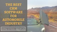 The Best CRM Software for Automobile Industry