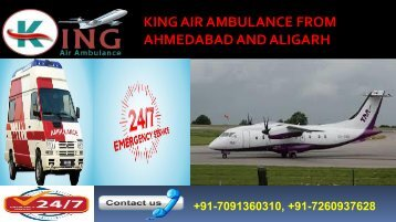 king air ambulance from ahmedabad and aligarh