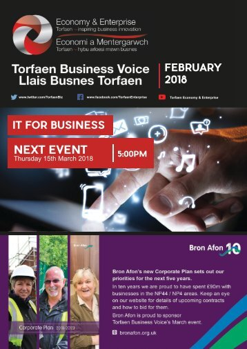 Torfaen Business Voice - Newsletter February 2018 (English)