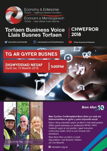 Torfaen Business Voice - Newsletter February 2018 (Welsh)
