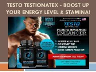 Testo Testionatex - Boost Up Your Energy Level & Stamina